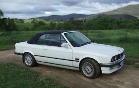 325i BMW E30 Coupe Cabriolet Automatic. M3 Style Look. Leather. Auto Air Con. Convertible Sports Car