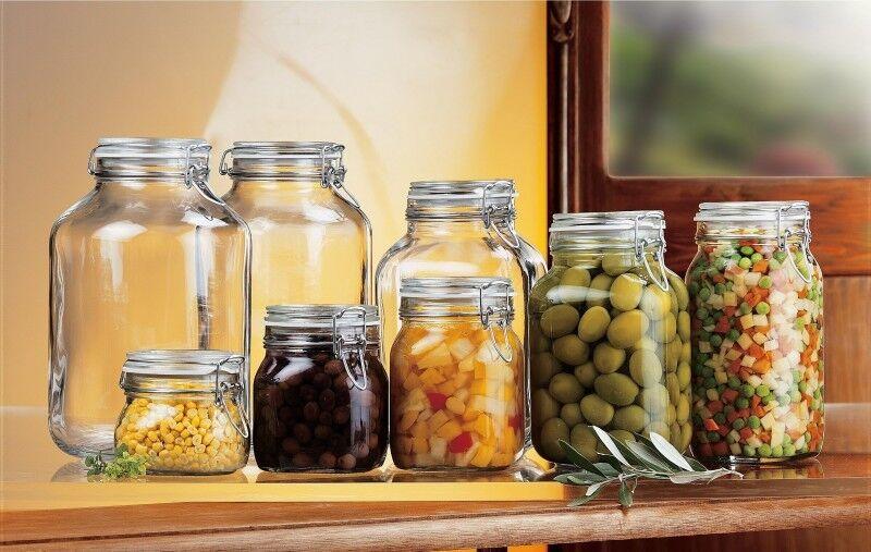 Einmachglas  Bügelverschluss Einmachgläser Rumtopf Vorratsglas Vorratsdose