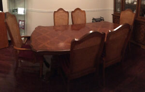 Dining Table Set and Cabinet Hutch