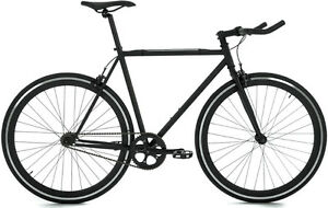 FIXED GEAR BIKE MATTE BLACK MOOSE BICYCLE FOR SALE