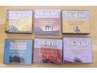 6 Roman Mysteries audiobooks on CD written by Caroline Lawrence.