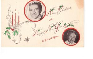 carte postale ancienne de LIBERACE et son frère GEORGE .