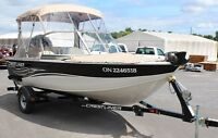 2010 CRESTLINER SUPERHAWK 1600 SKI & FISH BOAT - LOW PRICE
