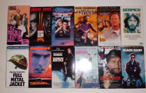 12 VHS Movie Tapes-Tom Cruise, Sean Connery, Steven Seagal,etc.