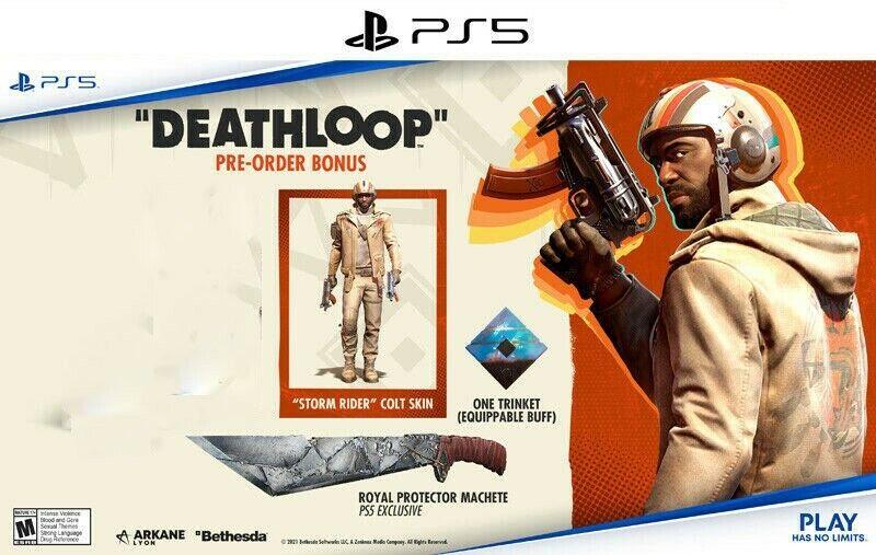 PS5 Deathloop - preorder bonus Trinket, Royal Machete & Skin DLC