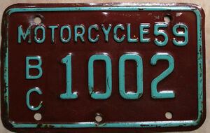 Classic Motorcycle? == Vintage Collector License Plates ==