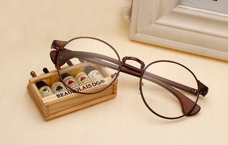Quality Round Eyeglass Glasses Metal Frame Prescription Wome
