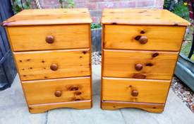 Pair Pine Bedside Tables