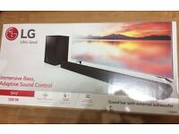 Brand new lg 2.1 sound bar with subwoofer