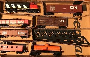 Train complet H.O. avec 12 wagons