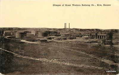 C 1910 Oil Industry Great Western Refining Erie Kansas Dolan Postcard 7892