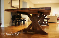 Sawbuck Dining Tables [Reclaimed Wood]