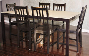 IKEA Kitchen Table Set with 6 Chairs