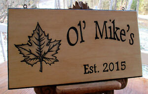 Custom hand carved personalized wood sign Peterborough Peterborough Area image 9