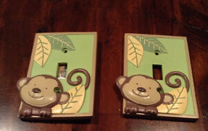 BABY NURSERY LIGHT SWITCH PLATES