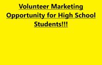 Wanted: High School Volunteers for Marketing Position