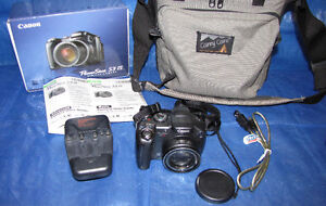 Canon PowerShot S3 IS Camera with accessories