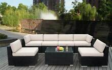 BRAND NEW PE Rattan Wicker Outdoor Sofa Lounge Pre-Assembeled Auburn Auburn Area Preview