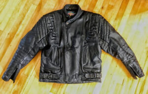 Akito T- Force Cafe Racer Motorcycle Biker Leather Jacket s 46