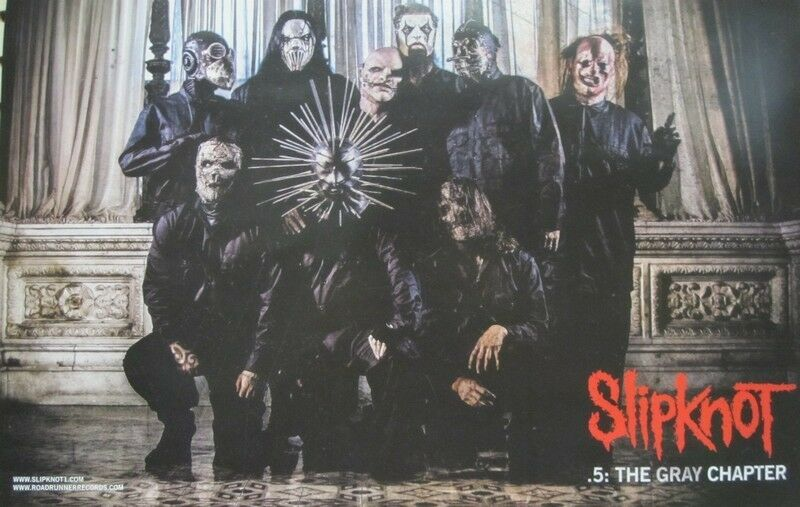 SLIPKNOT 2014 .5 THE GRAY CHAPTER 2 sided promo poster Flawless New Old Stock