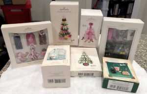 NEW 7 SETS Hallmark Barbie Christmas Ornament Collection