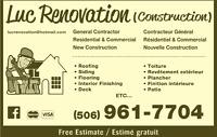 LUC RENOVATION (CONSTRUCTION)