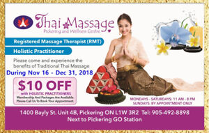 THAI Massage Pickering Year End Special~