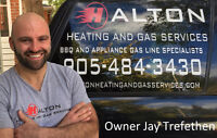 Natural Gas BBQ Line Installation - Kitchener Waterloo -Licensed