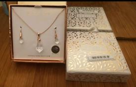 SWAROVSKI MESTIGE Rose Gold Drop Set