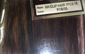 100% Human Hair 7pc 18 inch clip on hair extensions Cornwall Ontario image 3