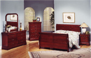 SOLID WOOD BEDROOM SET (ALL  5 PCS) - GREAT SALE