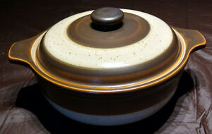 Denby Langley Russet Pattern 2 Quart Casserole with lid