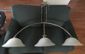 Island or pool table light fixture