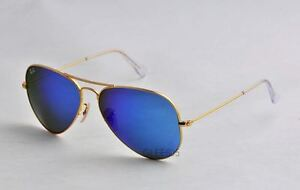 Ray-Ban-3025-RB3025-112-17-matte-Gold-Aviator-Blue-mirrored-55mm-Sunglass