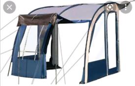 Caravan awning and flooring