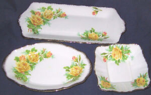 Royal Albert - Tea Rose Candy Dishes & Tray ---SOLD
