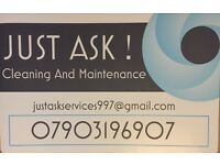 JUST ASK cleaning and maintenance services