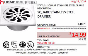 HOME IDOL STAINLESS STAIN DRAINER CLEARANCE $14
