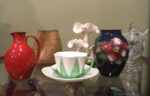 REAL NICE VINTAGE ART GLASS & EARTHENWARE!