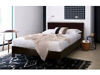 ❋❋【LATEST DESIGN - FAUX LEATHER 】❋❋ LEATHER BED FRAME IN SINGLE,SMALL DOUBLE,DOUBLE & KING SIZE
