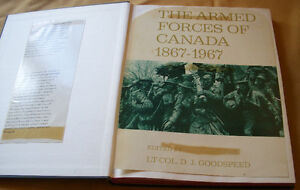 BOOK- THE ARMED FORCES OF CANADA 1867-1967  GOODSPEED