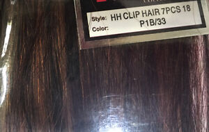 100% Human Hair 7pc 18 inch clip on hair extensions Cambridge Kitchener Area image 3