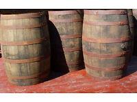 TRADITIONAL WOODEN PUB WHISKY / BEER BARRELS (TEN) - MICROPUB, MAN CAVE, RESTAURANT, HOME BREW ALE