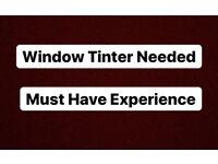Window Tinter Vacancy