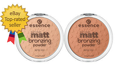 essence sun club matt bronzing powder natural looking tan mattifying effect