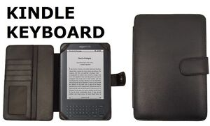 LUXURY LEATHER CASE COVER FOR KINDLE 3 3G KEYBOARD