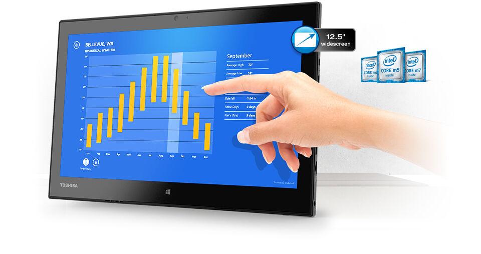 Toshiba 2-in-1 Laptop/Tablet Portege WT20‑B2100  (PT15CU-00U008)