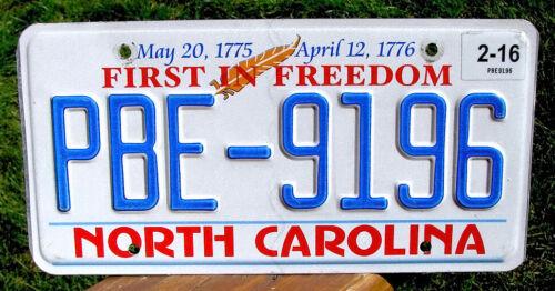 North Carolina FIRST IN FREEDOM License Plate (RANDOM PLATE#)
