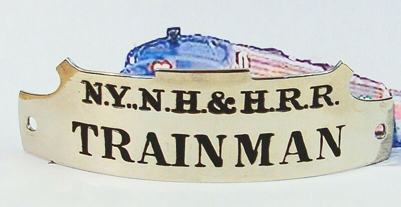 TRAINMAN  Vintage  NEW YORK NEW HAVEN & HARTFORD  RAILROAD  Hat Badge