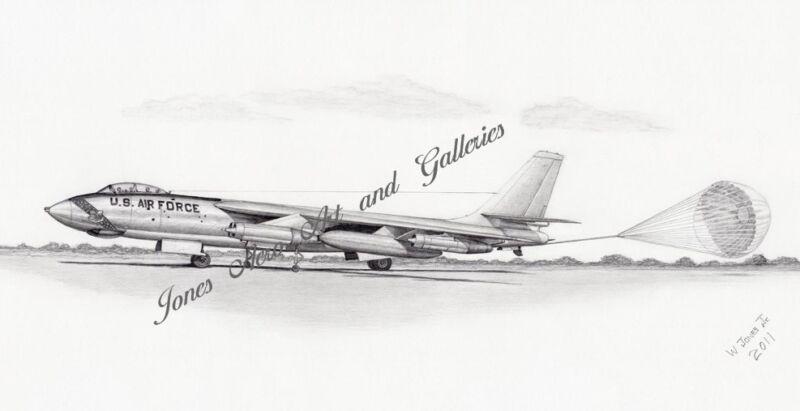 B-47E Stratojet Cold War Defender Giclee & Iris art print by Willie Jones Jr.